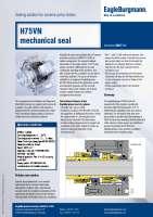 Solution: Mechanical seal H75VN in cumene pump station