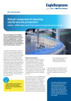 Solution: Robust component in ensuring sterile vaccine production